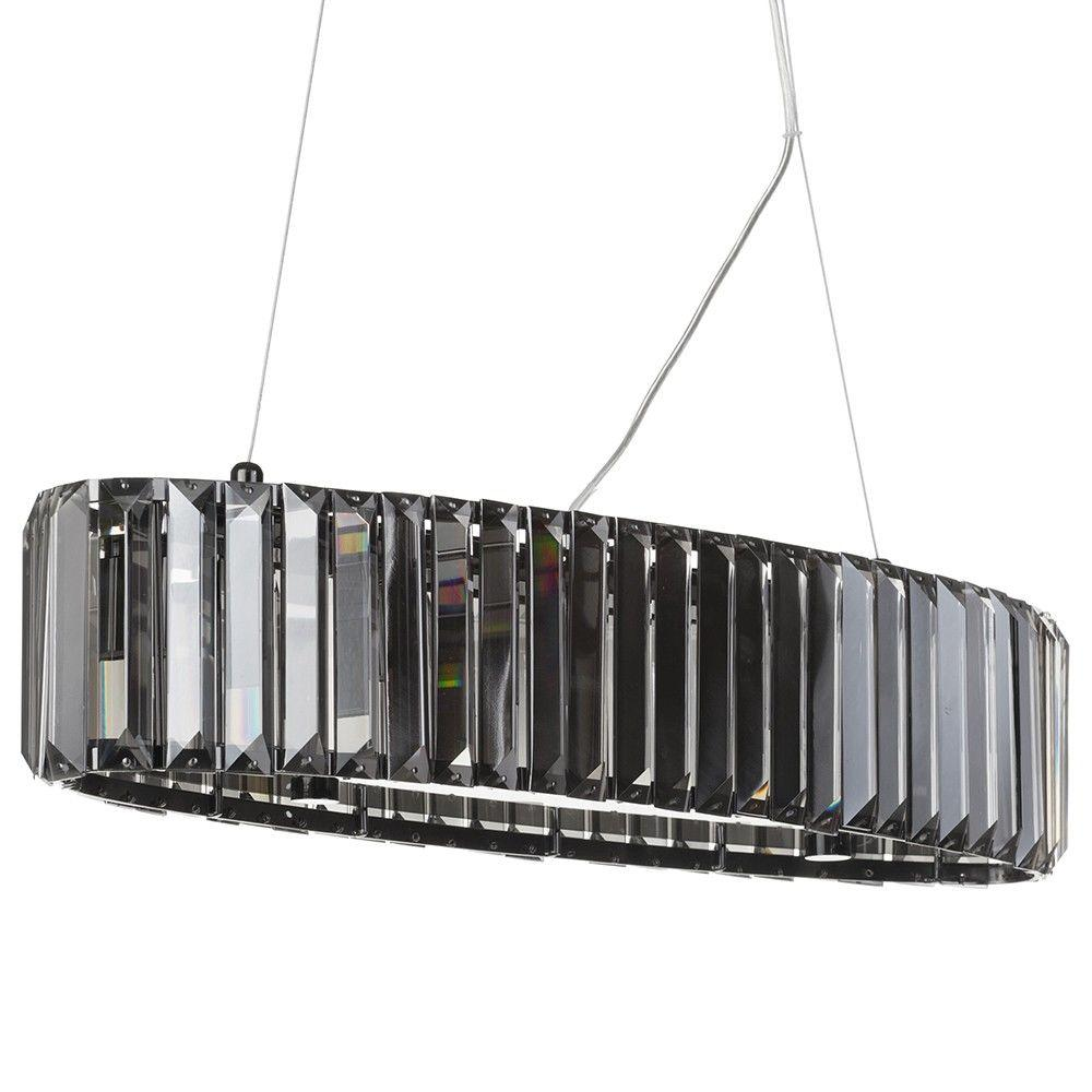 A Dazzling New Year - 5 Light Chisel Prism Bar Ceiling Pendant - Smoke