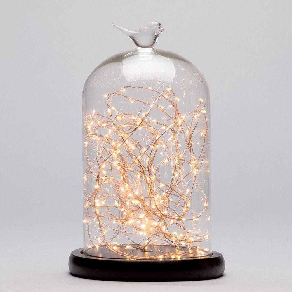 Bell Jar Table Light - Dark Wood & Copper - A New Year Dazzling Dining Room