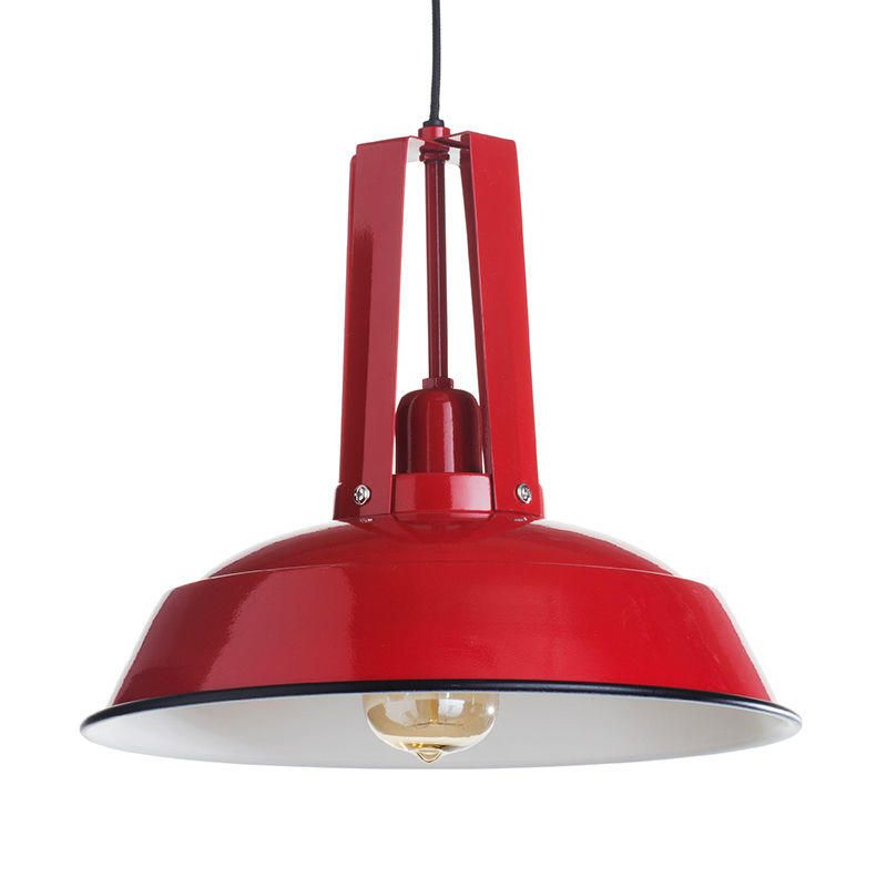 School Industrial Pendant Ceiling Light - Red