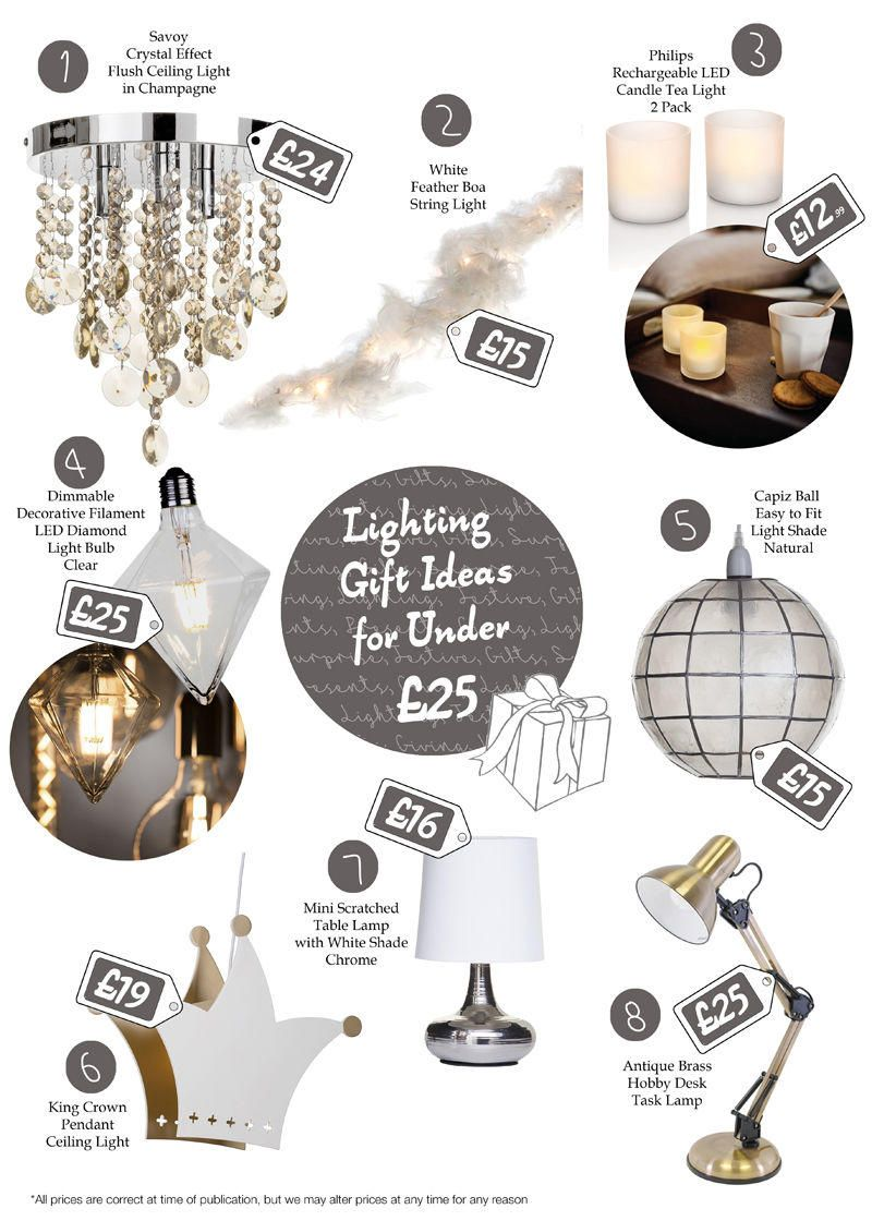 Top lighting gift ideas for under £25