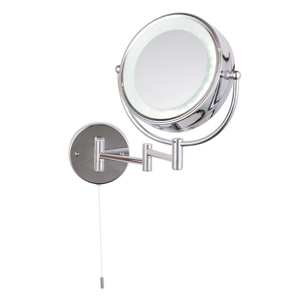 Home Spa - Toscana LED Wall Light Round 2x Magnifying Mirror - Chrome