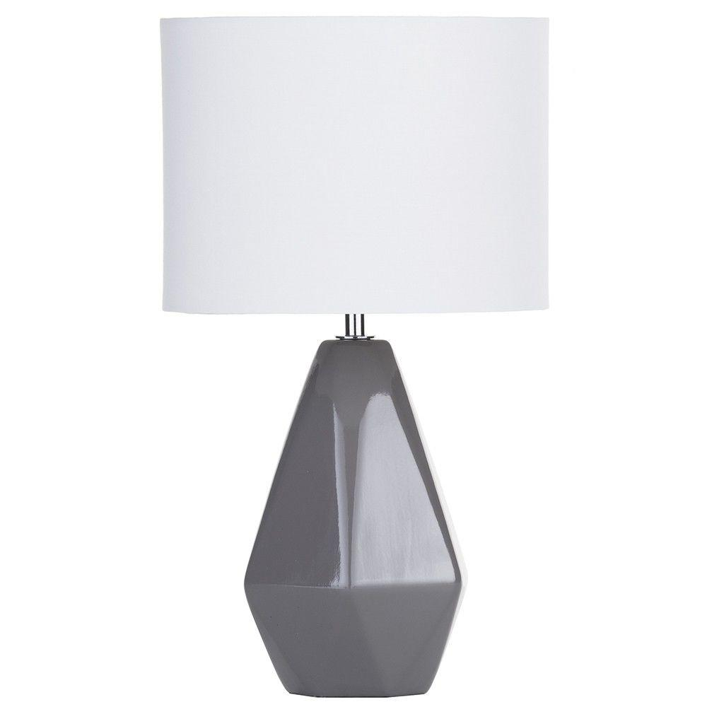 Mellow yellow decor interior ideas grey ceramic table lamp