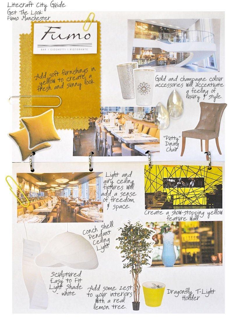 Yellow Interiors Fumo Manchester - look book
