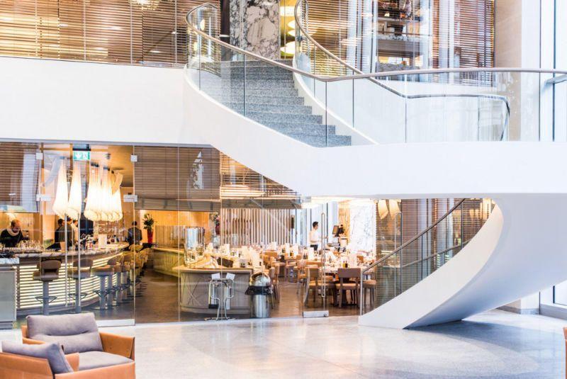 yellow interiors fumo restaurant manchester