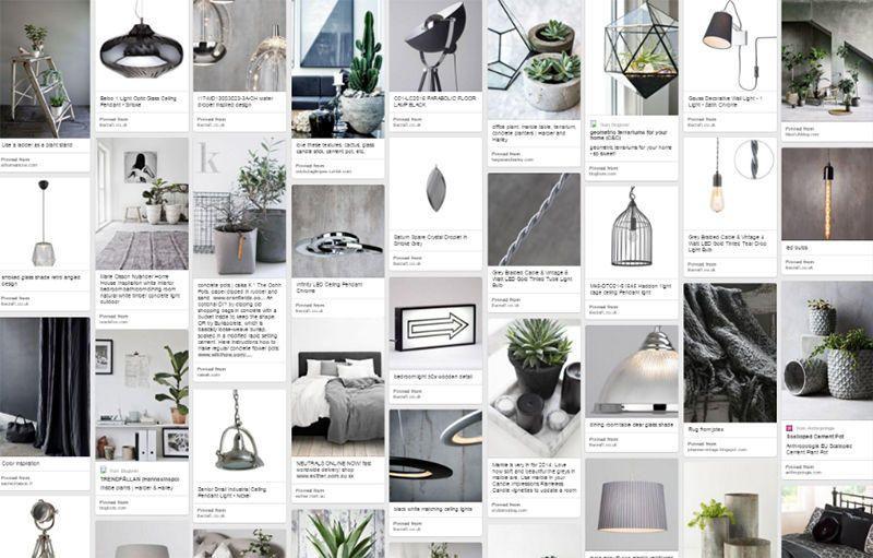 concrete interiors pinterest board