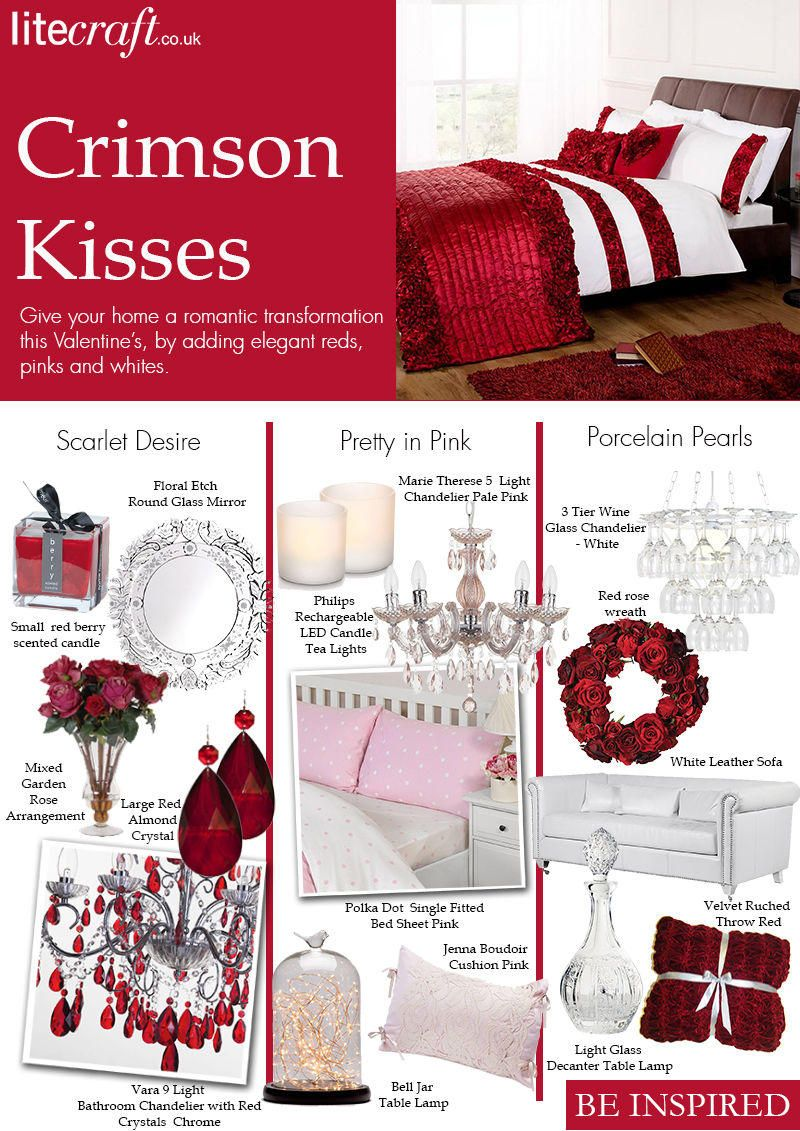 Interior inspiration Crimson Kisses lighting and accessories