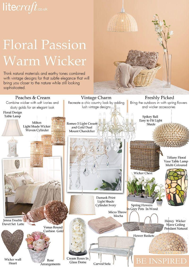 warm wicker floral passion interiors lighting be inspired litecraft blog