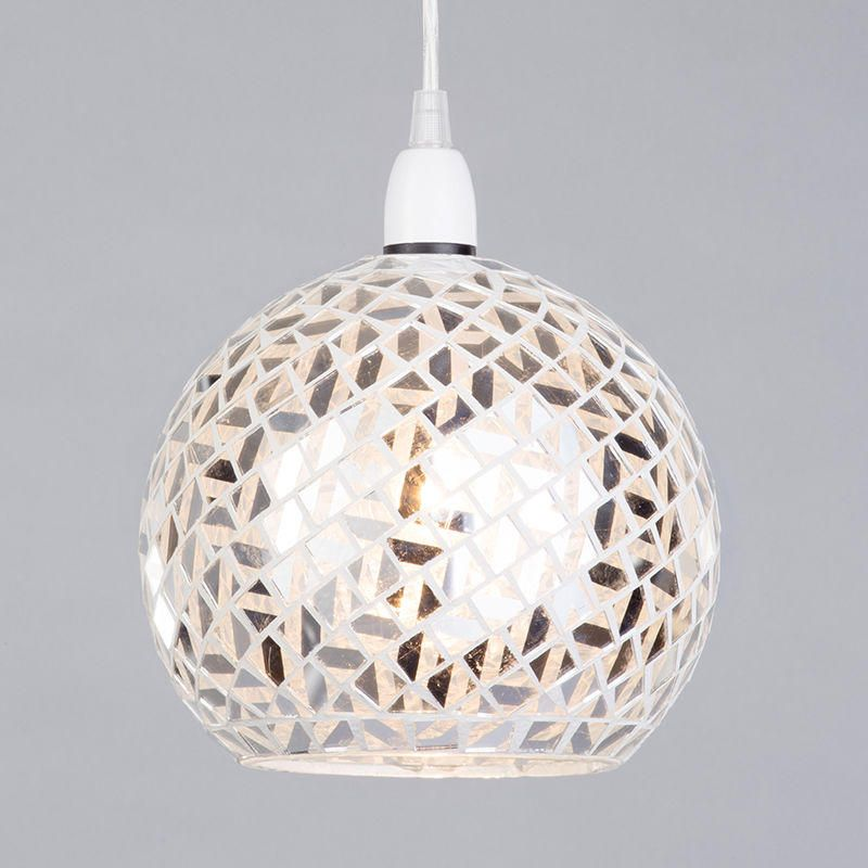 mosaic-lights-mirrored-pendant-ceiling-light-glass-shade