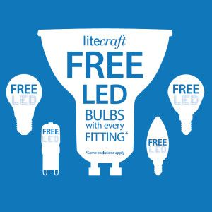 Free LED Bulbs with every Fitting