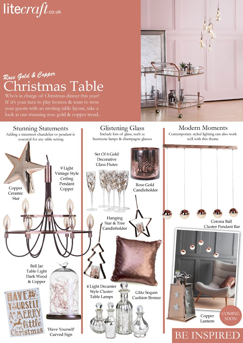 be inspired rose gold and copper christmas table