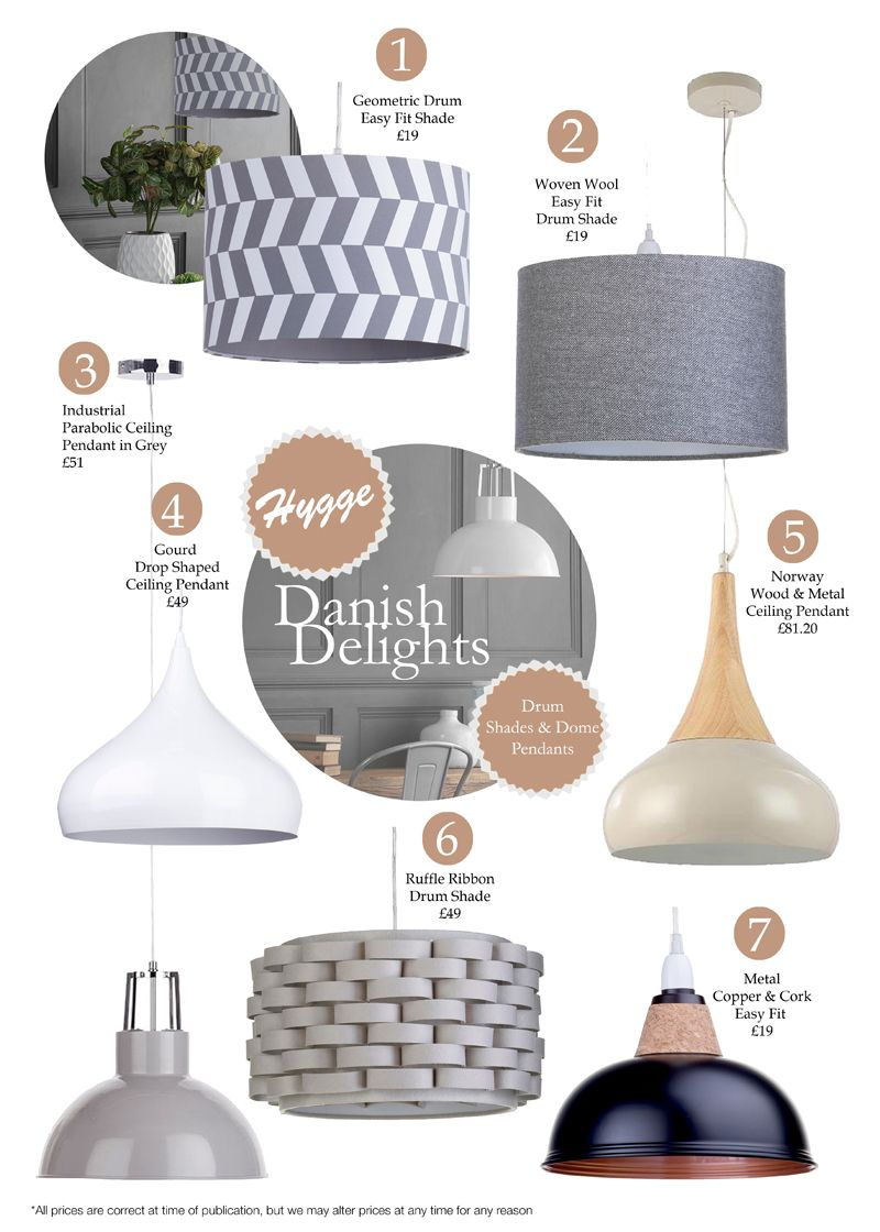 danish delight Drum Shades and Pendants top picks