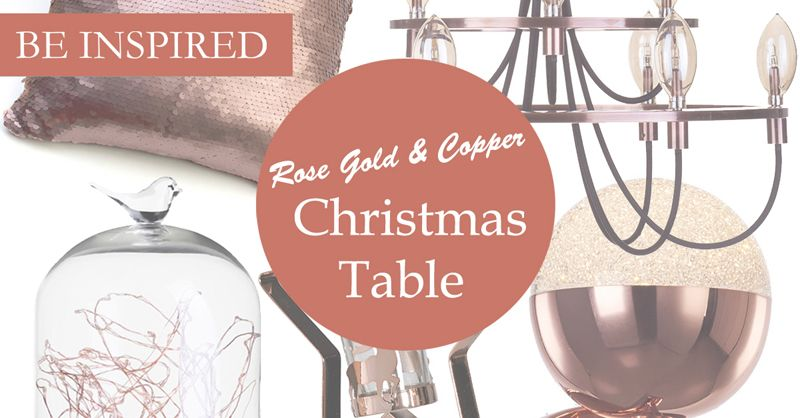 Rose gold and copper Christmas Table