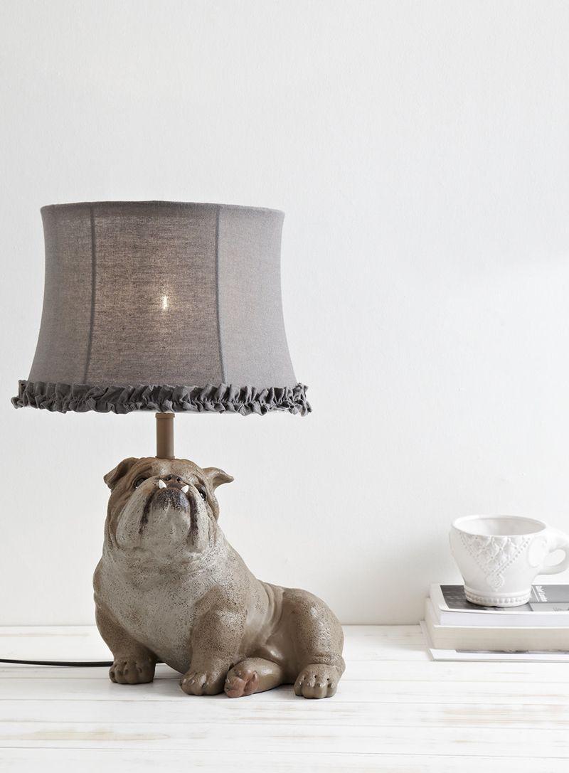 bull dog table lamp