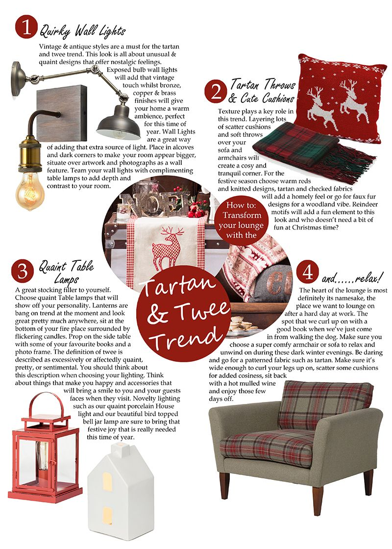 How to transform your lounge with the tartan and twee trend