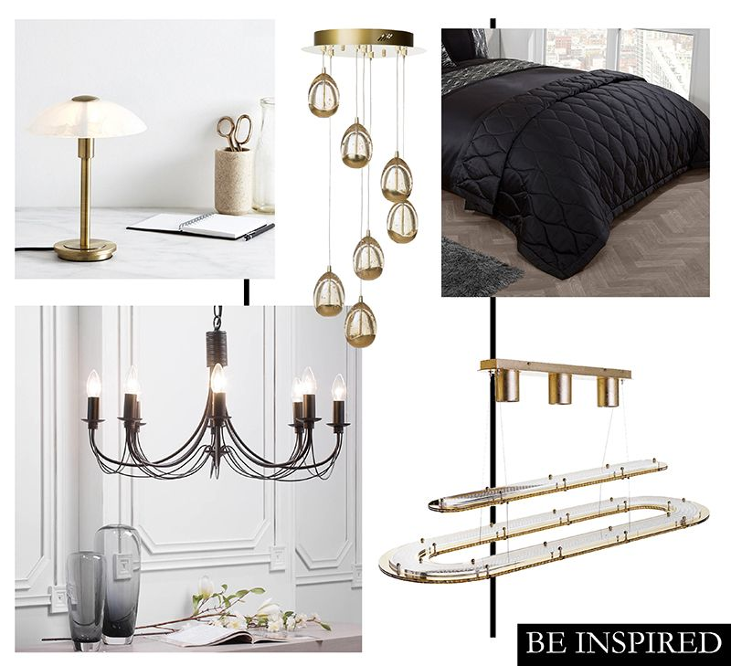 Top Lighting Trends for Upcoming 2017 - Black and Gold Trend