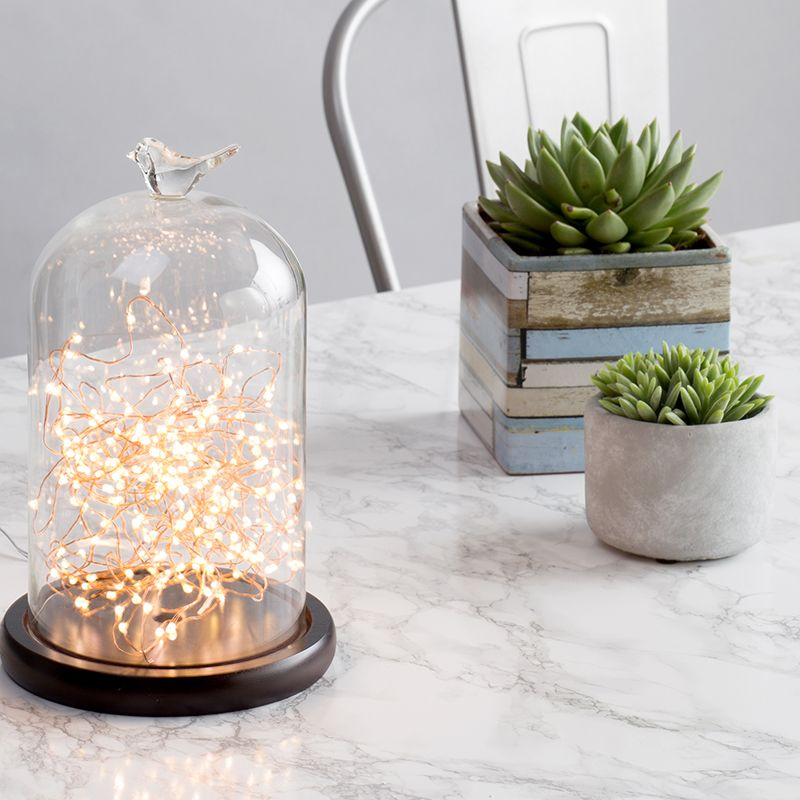 Adding Greenery to your Home - Copper Bell Jar Table Lamp