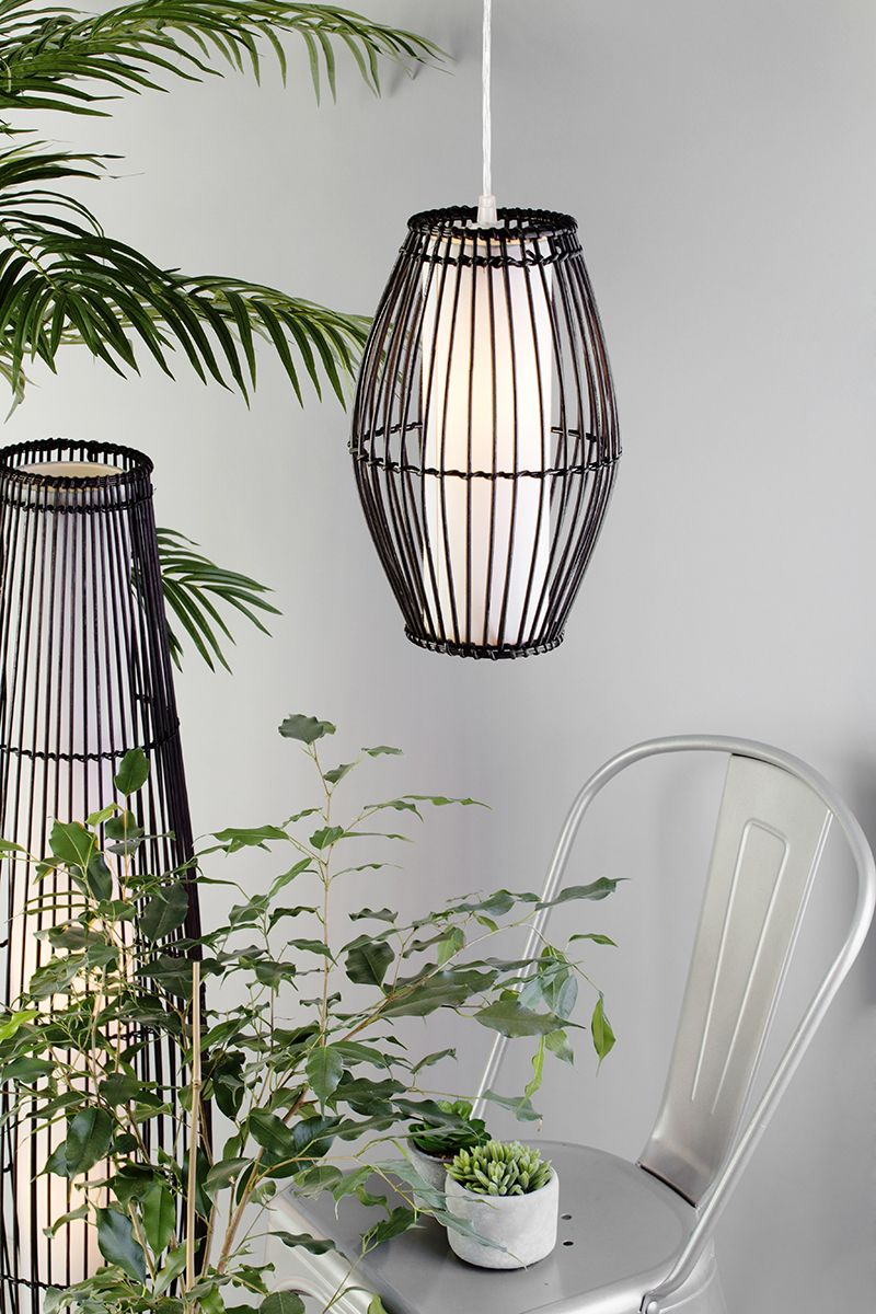 Adding Greenery to your home - rattan wicker