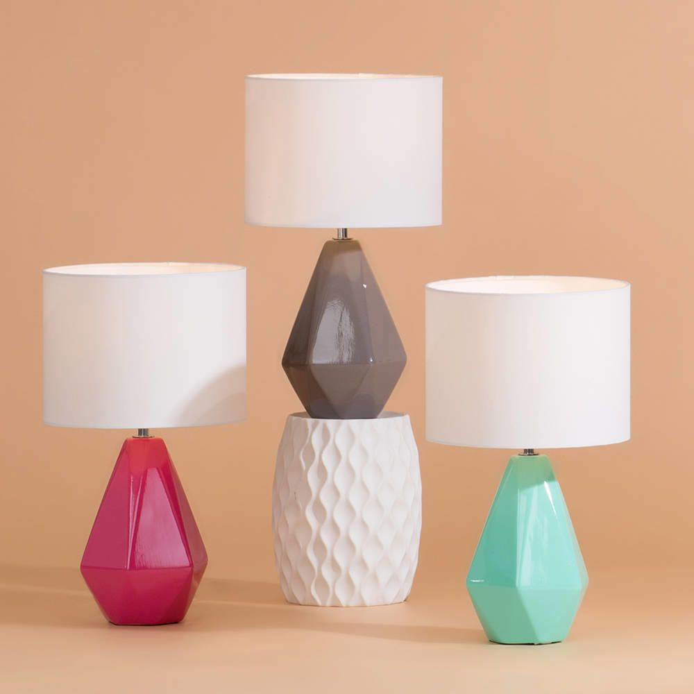 Colourful Ceramic Geometric Table Lamp Group