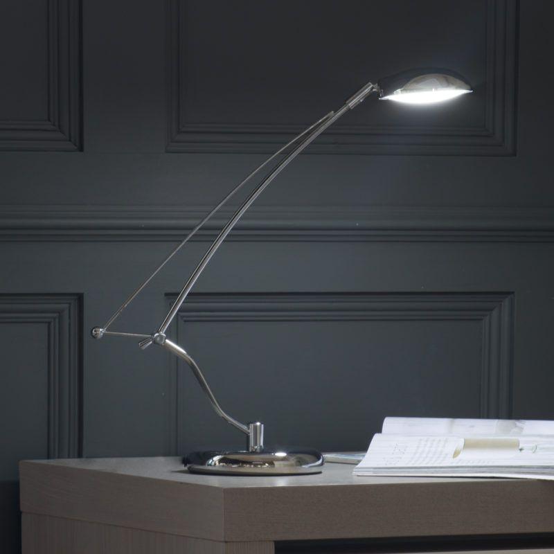 Desk Lamp in Chrome