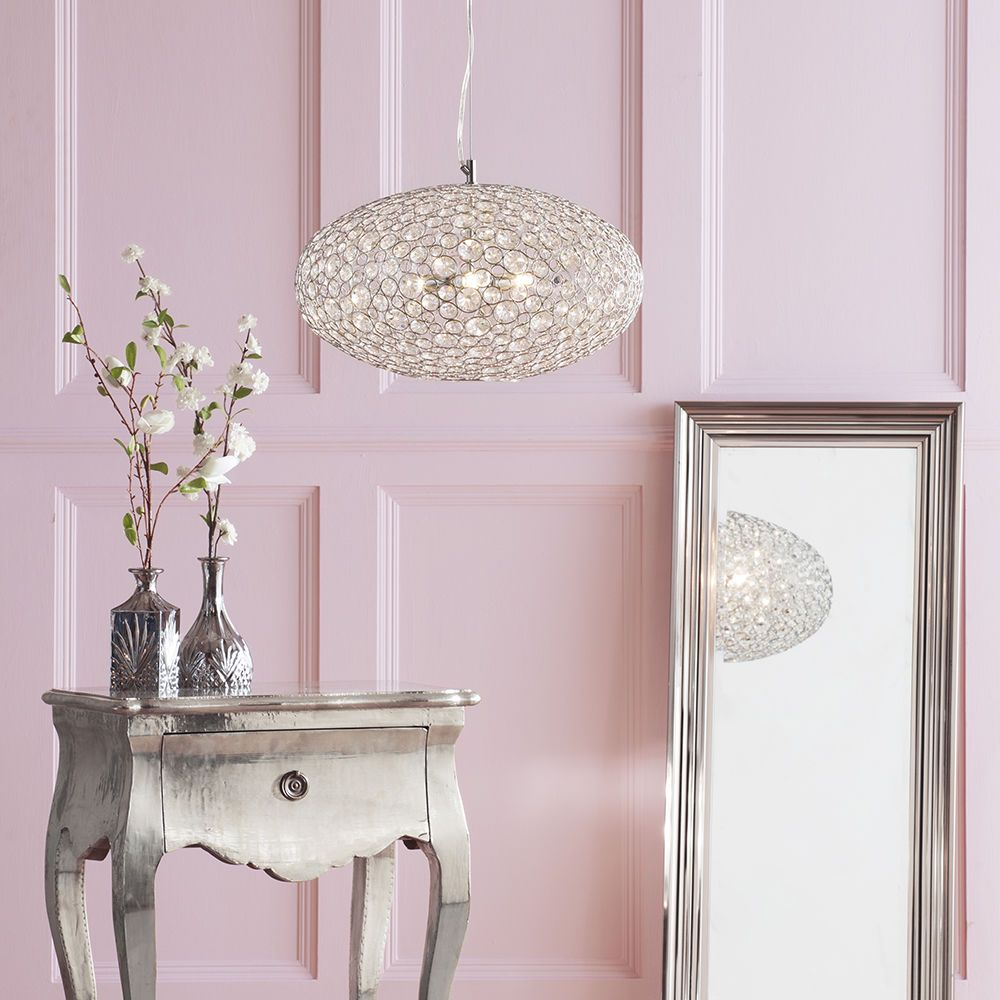 Pendant Light, Side Table and Floor Length Mirror