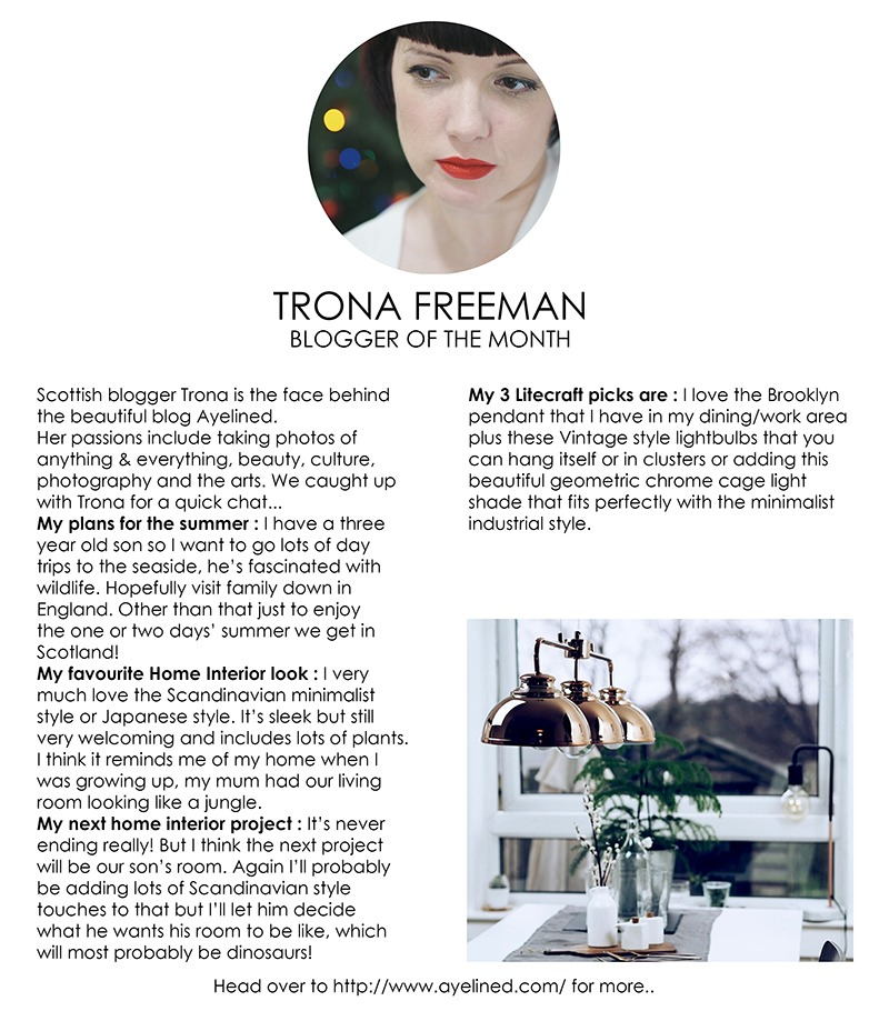 Blogger of the Month - Trona Freeman