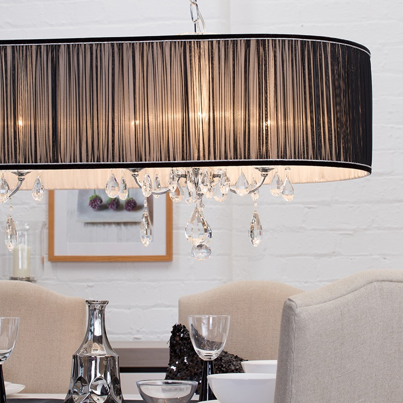 adding romance with lighting - Vara Champagne Coloured Crystals
