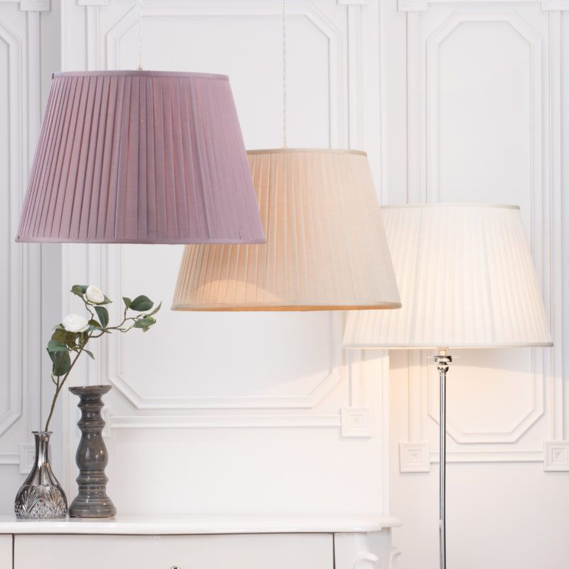 Ceiling Shades and Floor Lamp