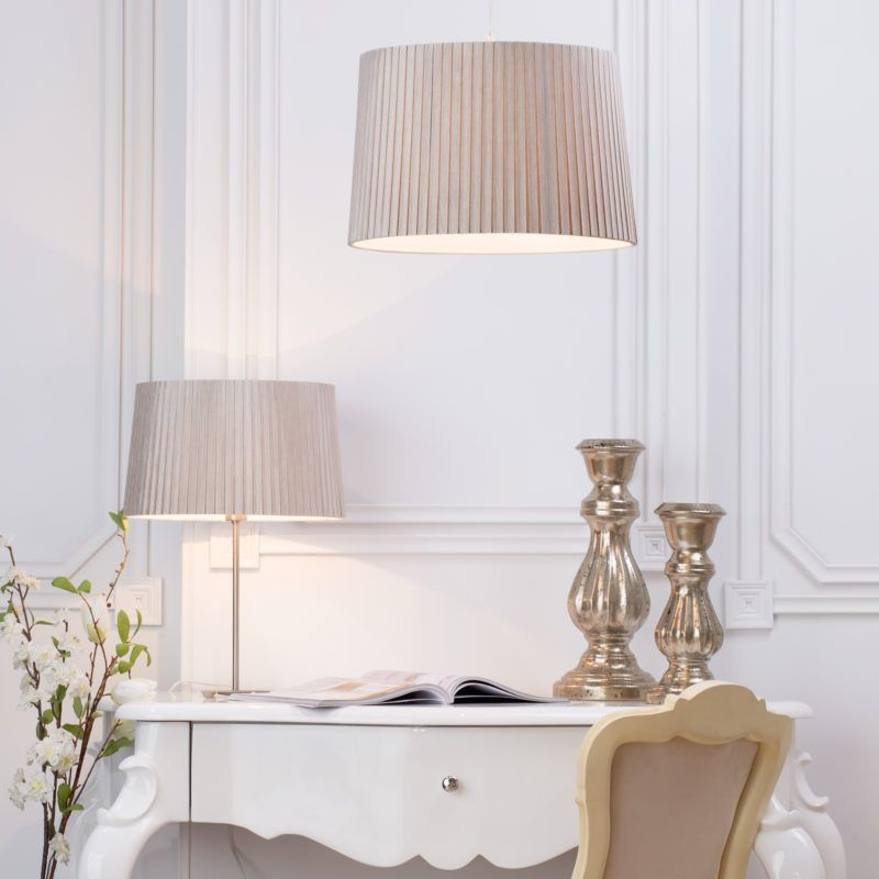 Table Lamp and Ceiling Shade in Mocha