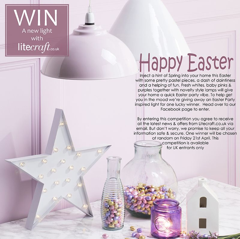 Win a spring inspired Easter style lamp with litecraft