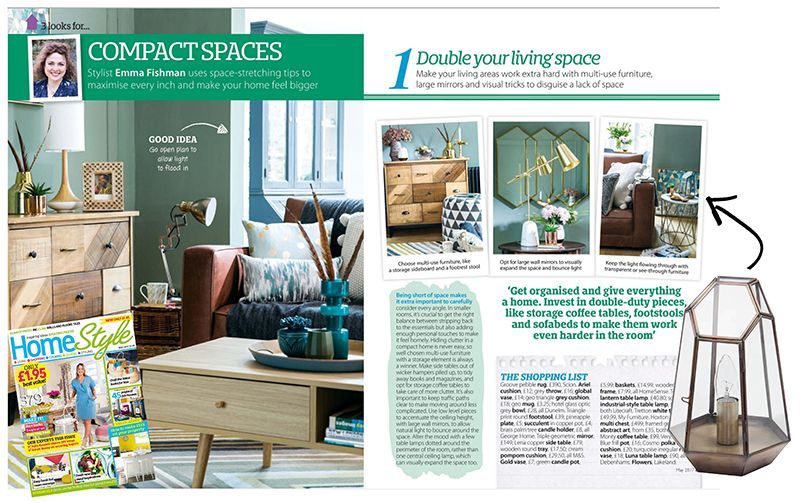 Homestyle Magazine Scissor Terrarium - Litecraft