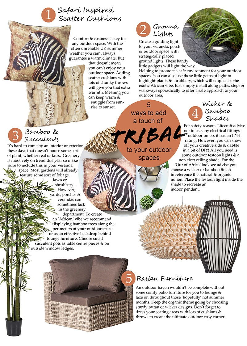 5 ways to add a touch of tribal to your outdoor spaces