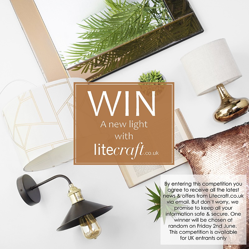Win a botanical bronze style light from Litecraft