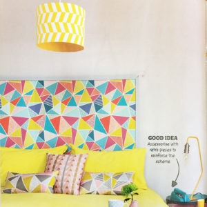 Home Style Magazine - Add pattern with our Geometric Drum Shade