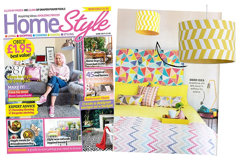 Home Style June 2017 Yellow Geometric Shade - Litecraft