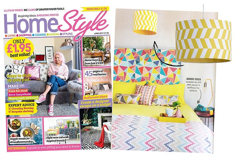 Home Style June 2017 Yellow Geometric Shade - Litecraft