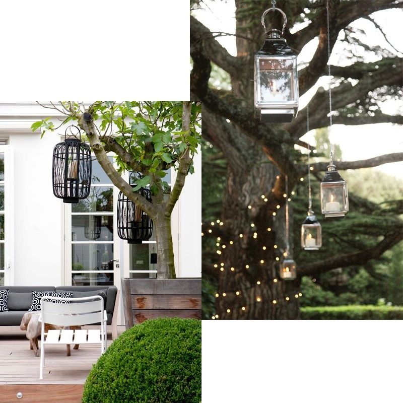 Hanging lanterns and faux candles - Litecraft