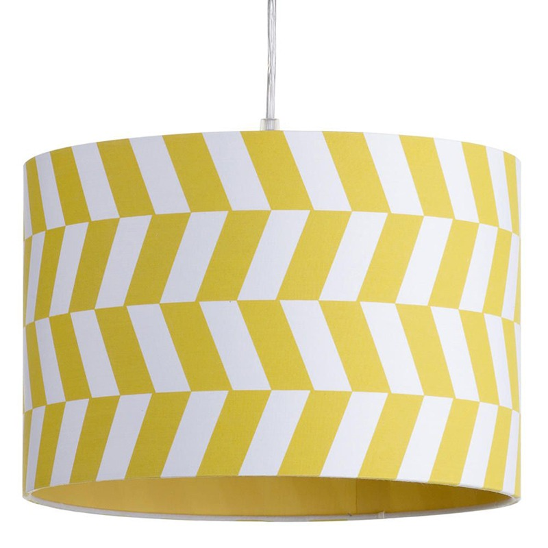 Geometric Drum Shade in Yellow