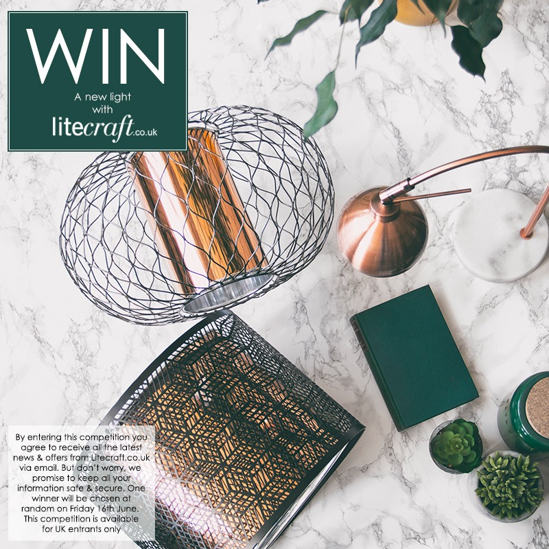 Win a copper jungalow inspired light with Litecraft's competition