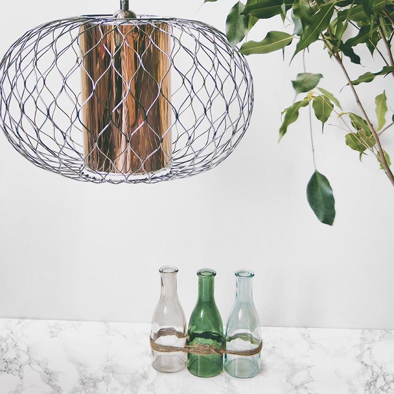 Litecraft Wire Pendant with Copper Insert