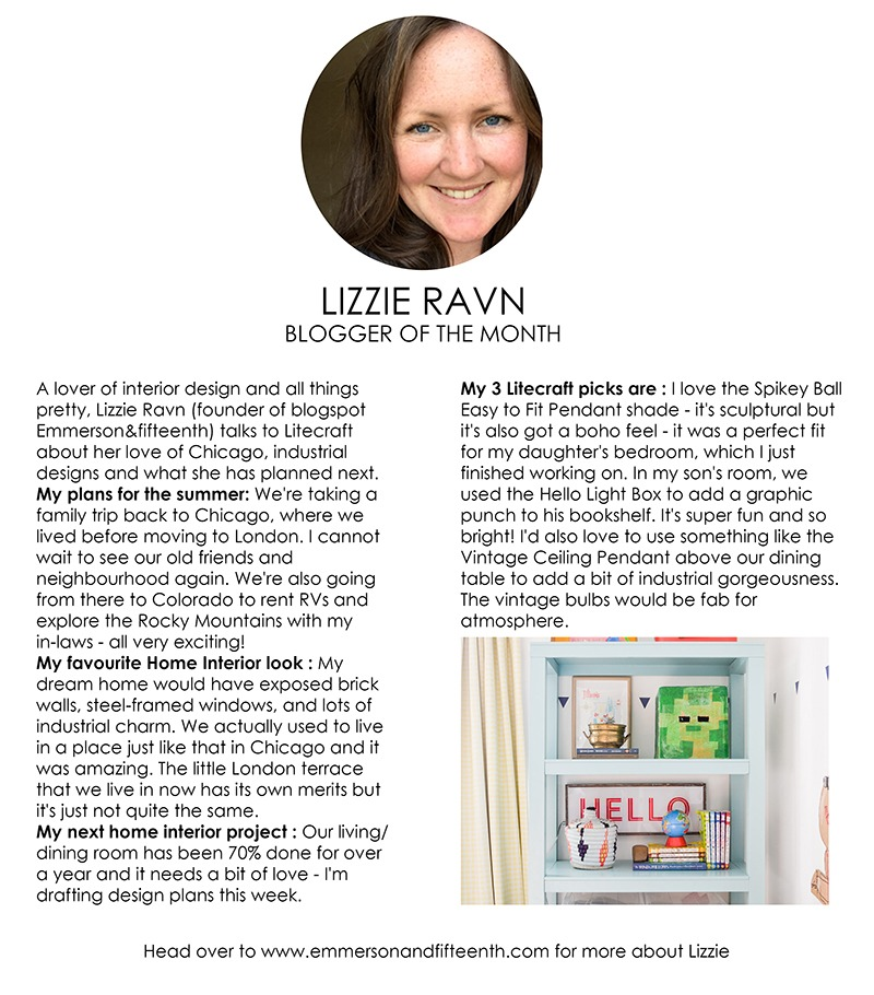 Blogger of the Month - Lizzie Ravn
