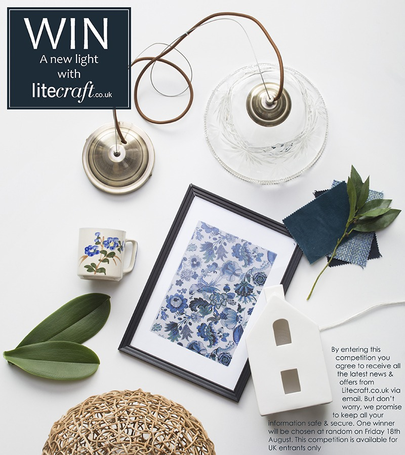 botanical blues inspired light with Litecraft's Competition