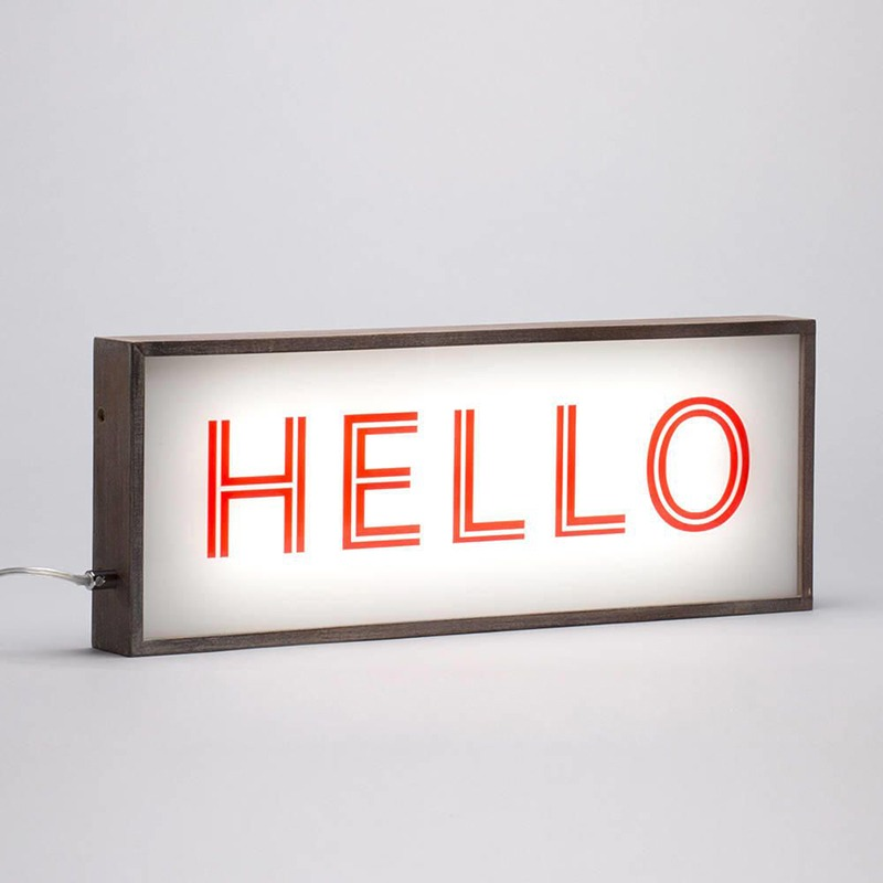 ampersand hellow lightbox your home magazine