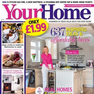 Let it glow with our Vara Chandelier in October's Your Home Magazine
