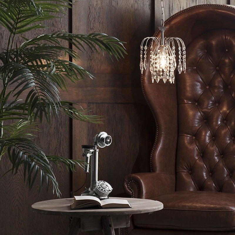 Crystal Bath Ceiling and Table Lamp Range