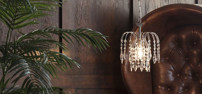 Crystal Bath Ceiling and Table Lamp Range from Litecraft