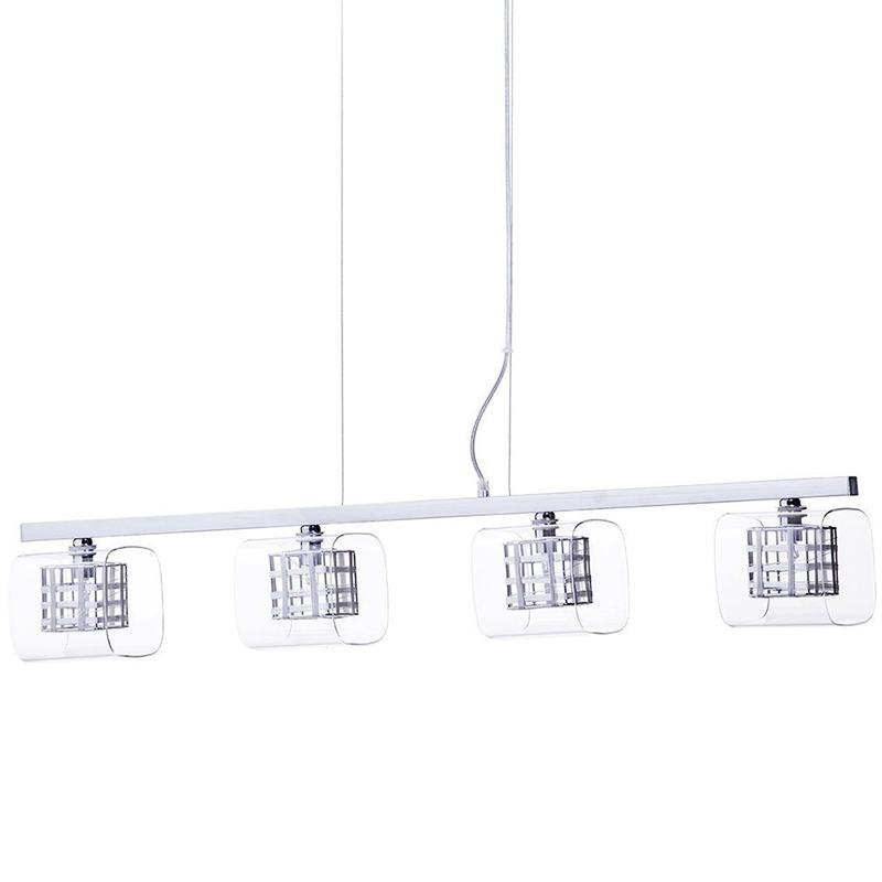 Lille Chrome Lattice Cube Pendant Bar Kitchen Island lighting