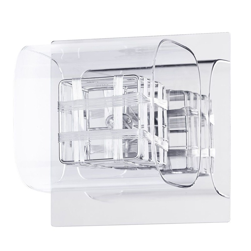 Lille Chrome Lattice Cube wall light