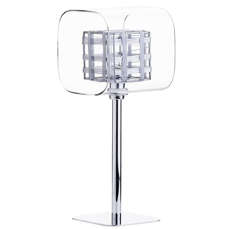 Lille Chrome Lattice Cube table lamp from litecraft