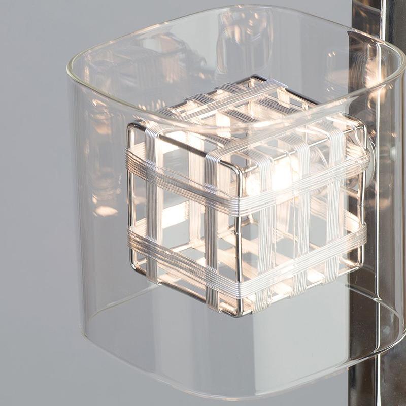 Lille Chrome Lattice Cube floor lamp from litecraft