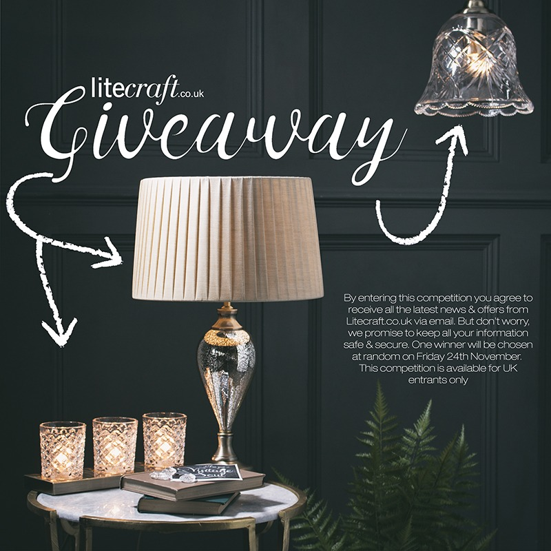 Win a Vintage Glass Inspired Lamp with Litecraft's latest competition
